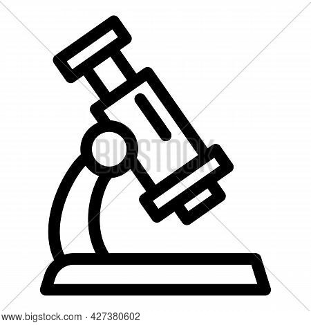 Medical Microscope Icon. Outline Medical Microscope Vector Icon For Web Design Isolated On White Bac