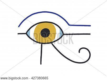 Spiritual Egyptian Eye Of Ra God. Magic Holy Ancient Symbol Of Egypt. Esoteric Abstract Eyeball In D