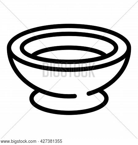 Sushi Sauce Bowl Icon. Outline Sushi Sauce Bowl Vector Icon For Web Design Isolated On White Backgro