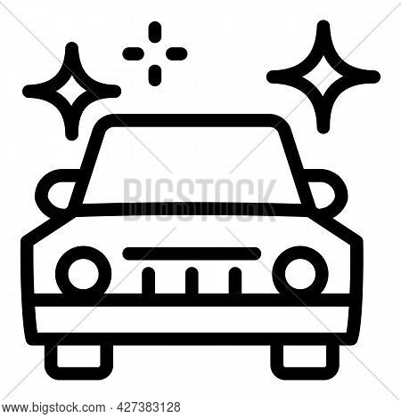 Clean Car After Washing Icon. Outline Clean Car After Washing Vector Icon For Web Design Isolated On