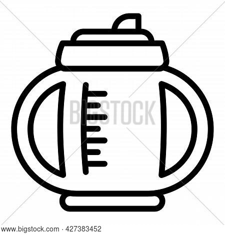 Mug Sippy Cup Icon. Outline Mug Sippy Cup Vector Icon For Web Design Isolated On White Background