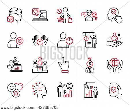 Vector Set Of People Icons Related To Friends Chat, Stop Shopping And Teamwork Icons. Security App,