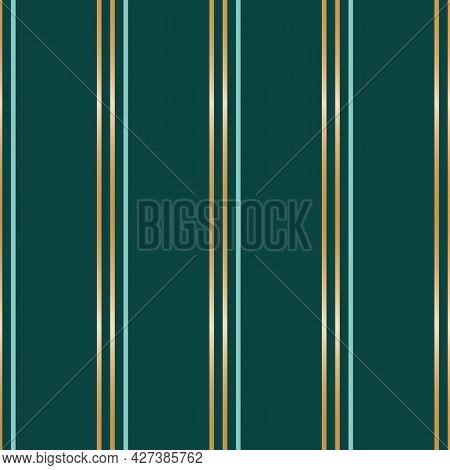 Vector Golden Teal Stripes Green Seamless Pattern