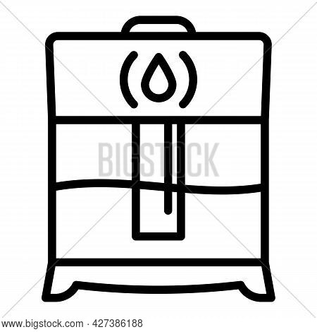 House Humidifier Icon. Outline House Humidifier Vector Icon For Web Design Isolated On White Backgro