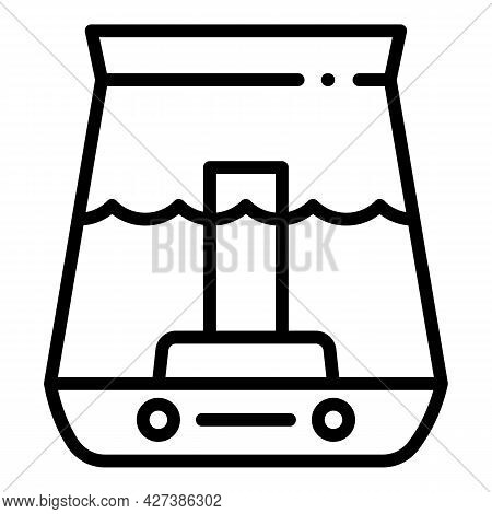 Water Humidifier Icon. Outline Water Humidifier Vector Icon For Web Design Isolated On White Backgro
