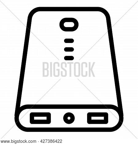 Modern Power Bank Icon. Outline Modern Power Bank Vector Icon For Web Design Isolated On White Backg