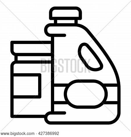 Pool Liquid Cleaner Icon. Outline Pool Liquid Cleaner Vector Icon For Web Design Isolated On White B