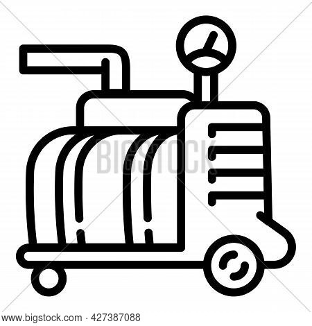 Factory Pool Compressor Icon. Outline Factory Pool Compressor Vector Icon For Web Design Isolated On