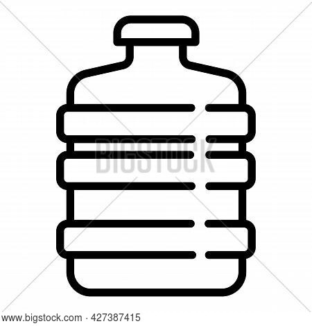 Filtered Water Bottle Icon. Outline Filtered Water Bottle Vector Icon For Web Design Isolated On Whi