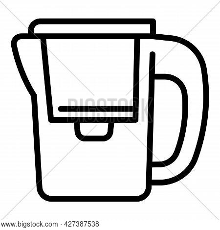 Modern Water Filter Jug Icon. Outline Modern Water Filter Jug Vector Icon For Web Design Isolated On