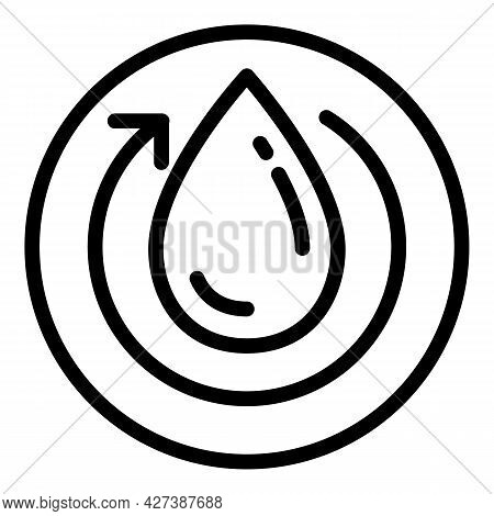 Recycle Water Filter Icon. Outline Recycle Water Filter Vector Icon For Web Design Isolated On White