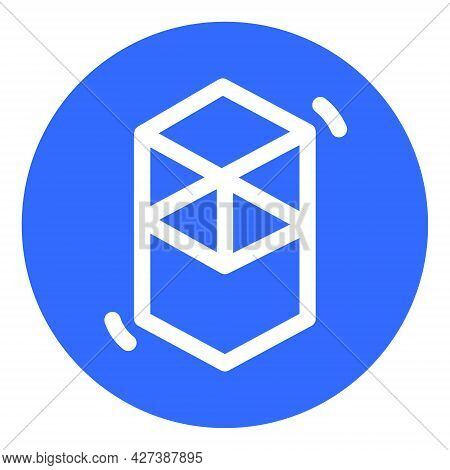 Fantom Ftm Token Symbol Of The Defi Project Cryptocurrency Logo In Circle, Decentralized Finance Coi