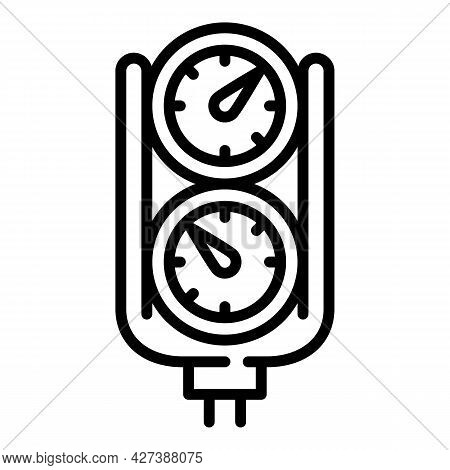 Snorkeling Gauge Icon. Outline Snorkeling Gauge Vector Icon For Web Design Isolated On White Backgro