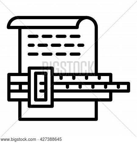 Architect Paper Project Icon. Outline Architect Paper Project Vector Icon For Web Design Isolated On