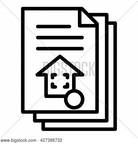 Architect House Project Icon. Outline Architect House Project Vector Icon For Web Design Isolated On