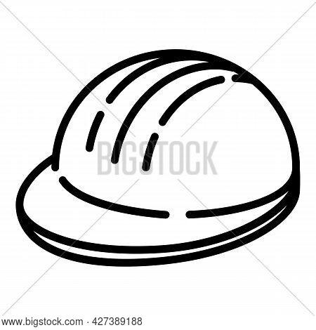 Architect Helmet Icon. Outline Architect Helmet Vector Icon For Web Design Isolated On White Backgro