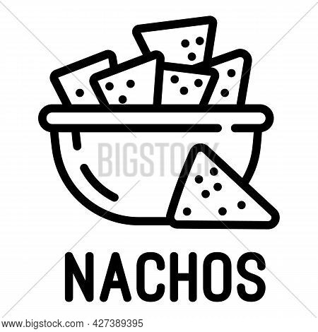 Nachos Icon. Outline Nachos Vector Icon For Web Design Isolated On White Background