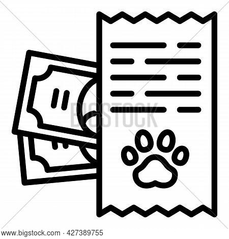 Pet Hotel Payment Icon. Outline Pet Hotel Payment Vector Icon For Web Design Isolated On White Backg