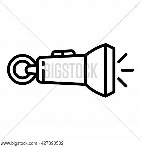 Rescue Flashlight Icon. Outline Rescue Flashlight Vector Icon For Web Design Isolated On White Backg