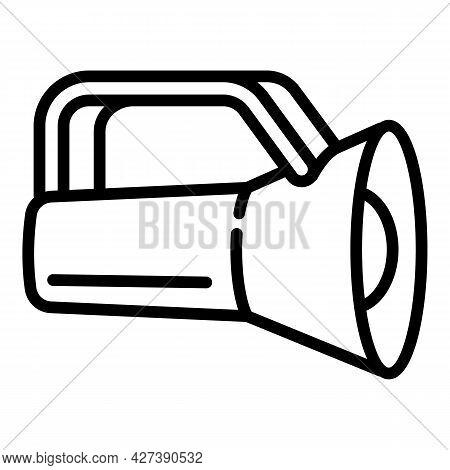 Lamp Flashlight Icon. Outline Lamp Flashlight Vector Icon For Web Design Isolated On White Backgroun