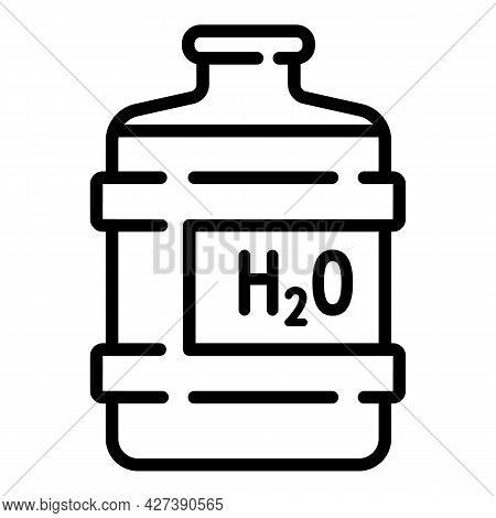 Big Water Bottle Icon. Outline Big Water Bottle Vector Icon For Web Design Isolated On White Backgro