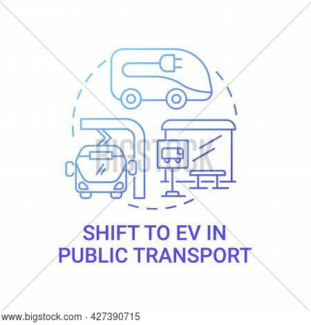 Public Eco Transport Future Concept Icon. Electric Vehicle Transit Efficiency Abstract Idea Thin Lin