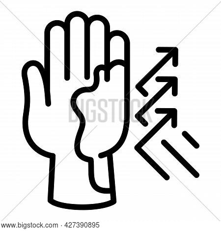 Hand Sunscreen Protection Icon. Outline Hand Sunscreen Protection Vector Icon For Web Design Isolate