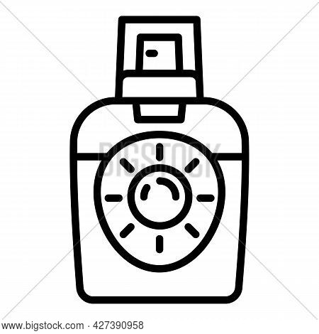 New Sunscreen Spray Icon. Outline New Sunscreen Spray Vector Icon For Web Design Isolated On White B