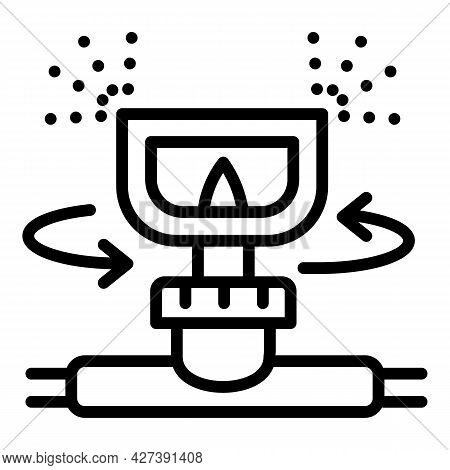 Irrigation Sprinkler Icon. Outline Irrigation Sprinkler Vector Icon For Web Design Isolated On White