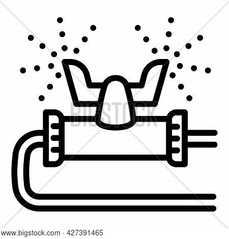 Plastic Irrigation Sprinkle Icon. Outline Plastic Irrigation Sprinkle Vector Icon For Web Design Iso