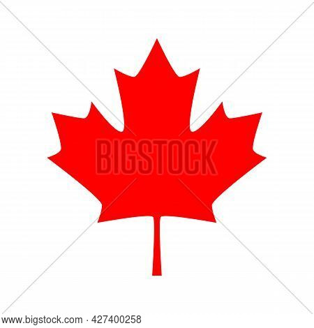Canadian Maple Leaf Vector Icon. Red Maple Leaf