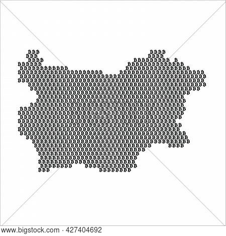 Bulgaria Country Map Made With Bitcoin Crypto Currency Logo