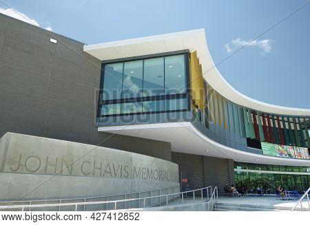 Raleigh,nc - Usa - 7-15-2021: John Chavis Memorial Park Near Downtown Raleigh , Nc