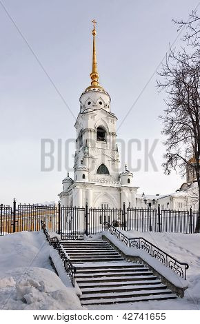 Bell tower of Dormition Cathedral has been built in 1810 in Vladimir poster