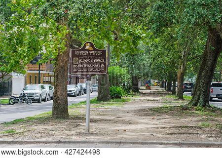 New Orleans, La - July 10: Historic Marker For Solomon Northup And