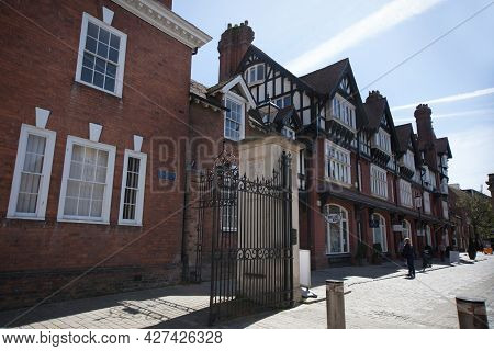 Views Of College Street Next To Gloucester Cathedral In Gloucester In The United Kingdom, Taken On T
