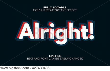 Fully Editable Text Effect. Simple Retro Text Effect.