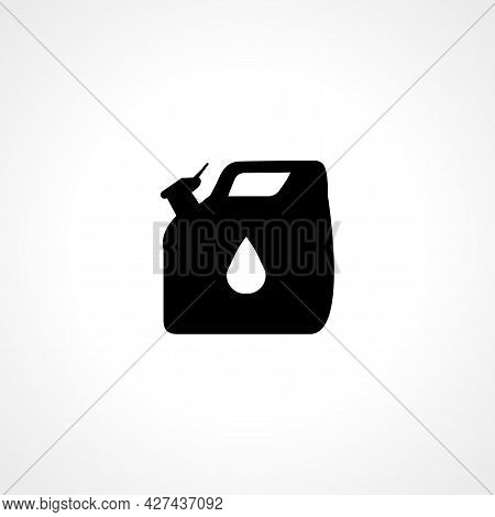 Oil Canister Icon. Oil Canister Isolated Simple Vector Icon.