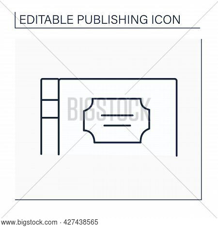 Title Line Icon. Book Name, Composition, Author Name. Main Caption Of Art Work. Publishing Concept.