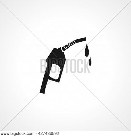 Filling Gun Icon. Fuel Station Isolated Simple Vector Icon.