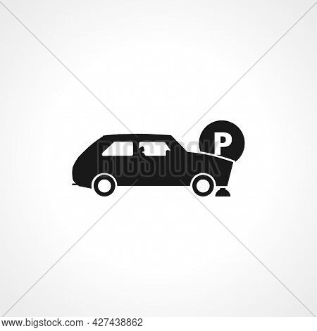 Car Parking Icon. Car Parking Isolated Simple Vector Icon.