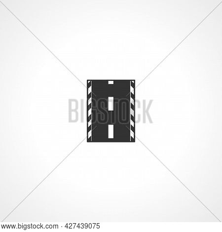 Road Icon. Track, Asphalt Isolated Simple Vector Icon.