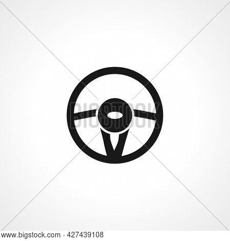 Steering Wheel Icon. Car Steering Wheel Isolated Simple Vector Icon.