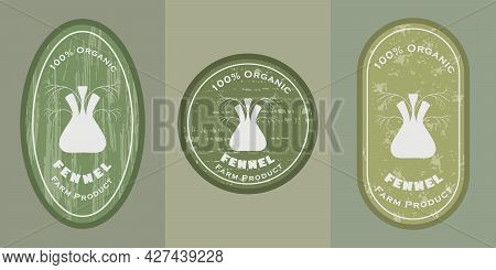 Three Logo Patches With Fennel And Texture