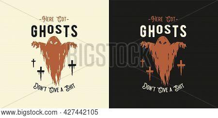 Halloween Ghost Or Spirit For Halloween Print