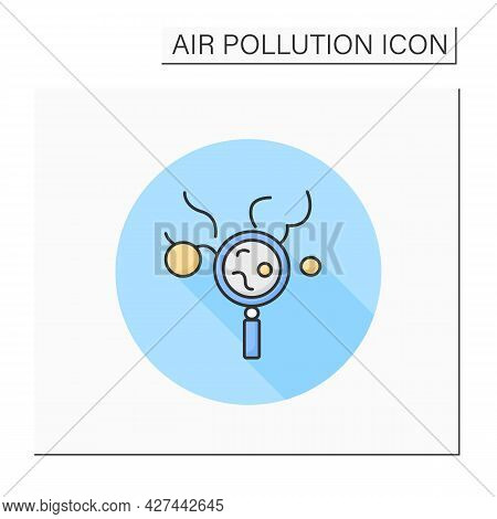 Daily Air Pollution Check Color Icon. Air Quality Index. Smog, Biohazard Emissions Analysis. Greenho
