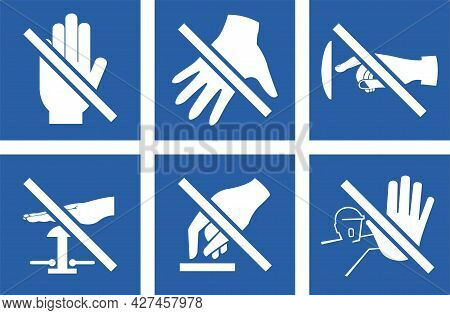 Set Please Do Not Touch Sign Icon