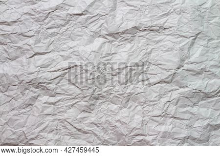 Brown Creased Paper Texture Background. Top View Of Brown Paper Texture Use For As Background.