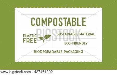 Recycle Packaging - Vintage Label Template. Eco, Bio Product Vintage Packaging Design. Recycle Label