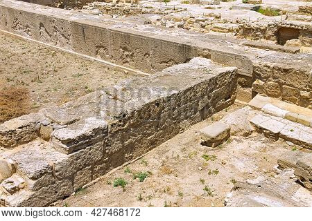 Cyprus, Larnaca -28 June 2021. A Complex Of Sacred Places In The Ancient City Of Kition. This Images